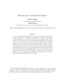 History and Coordination Failure