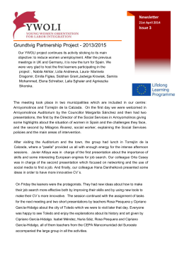 Grundtvig Partnership Project - 2013/2015