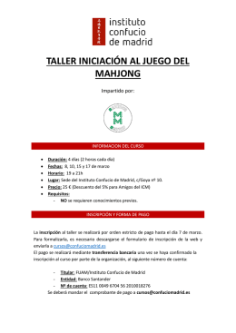 info Mahjong - Instituto Confucio de Madrid