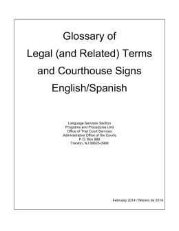 Glossary of Legal (and Related)