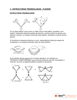estructuras trianguladas - flexion