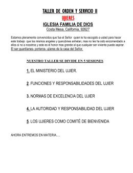 manual de ujieres ifd