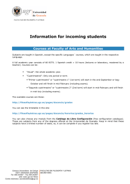 General information for incoming students