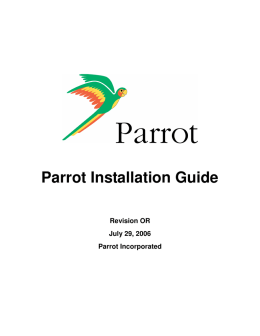 Parrot Installation Guide