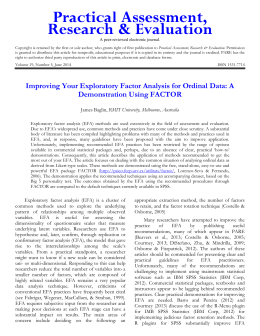 Improving Your Exploratory Factor Analysis for Ordinal Data: A