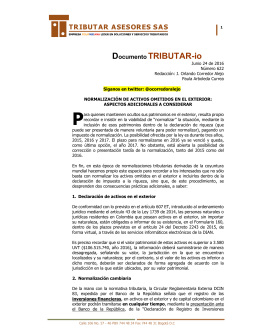 Documento TRIBUTAR-io - Tributar Asesores SAS