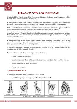 rula (rapid upper limb assessment) - Campus Esine