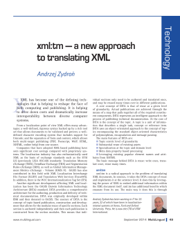 xml:tm - MultiLingual