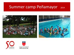 Summer camp Peñamayor - Colegios