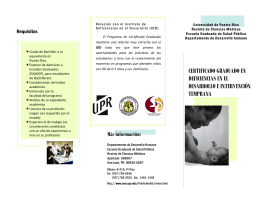 Brochure DDIT - Instituto de Deficiencias en el Desarrollo