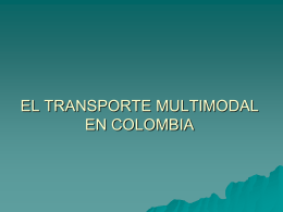 el transporte multimodal en colombia