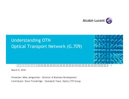 Understanding OTN Optical Transport Network
