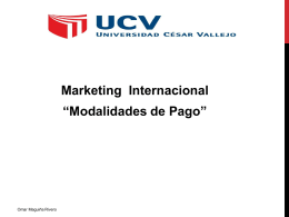 "Marketing Internacional ""Modalidades de Pago"""