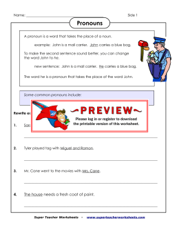 Pronouns - Super Teacher Worksheets
