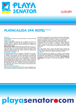 Playacálida Spa Hotel