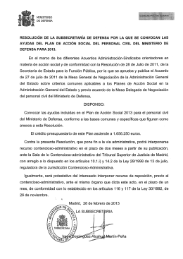 plan acción social personal civil del ministerio de defensa