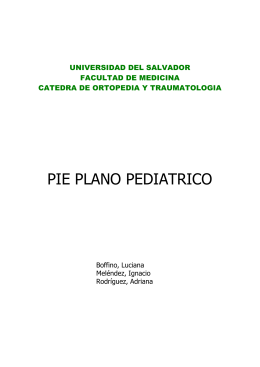 pie plano pediatrico - Facultad de Medicina | Universidad del Salvador