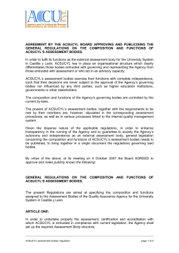 agreement by the acsucyl board approving and publicising the