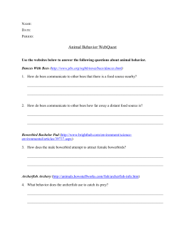 Animal Behavior WebQuest - Warren County Public Schools