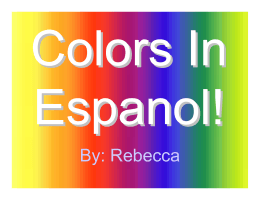 Colors In Espanol!