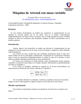 Máquina de Atwood con masa variable - Física re