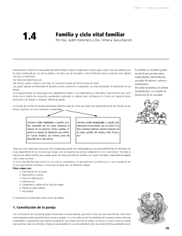 Familia y ciclo vital familiar