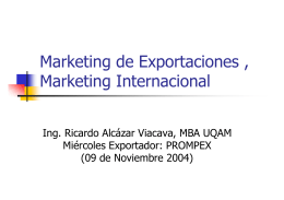 Marketing de Exportaciones , Marketing Internacional