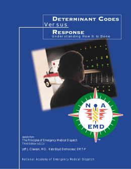 Determinant Codes - National Academies of Emergency Dispatch