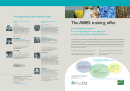 The ABIES training offer