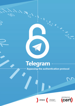 Telegram: bypassing the authentication protocol