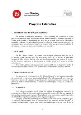 Proyecto Educativo - IES Doctor Fleming