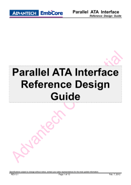 Parallel ATA Interface Reference Design Guide
