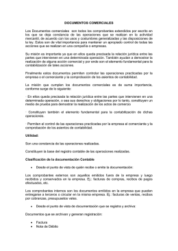 DOCUMENTOS COMERCIALES Los Documentos