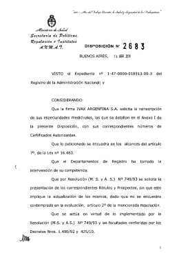 Disposición 2683 - 11