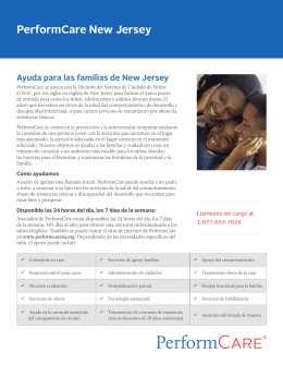 NJ System of Care Brochure (Spanish) - About