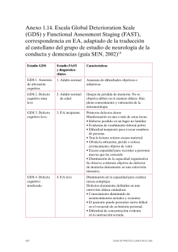 Anexo 1.14. Escala Global Deterioration Scale (GDS) y Functional