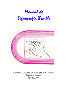 Manual de Signografía Braille - Accedo