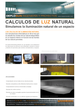 calculos de luz natural