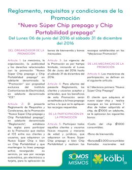 Nuevo Súper Chip prepago y Chip Portabilidad prepago