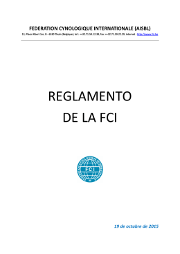 reglamento de la fci - Fédération Cynologique Internationale