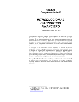introduccion al diagnostico financiero
