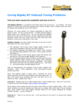Curing Bigsby B7 Induced Tuning Problems - Award