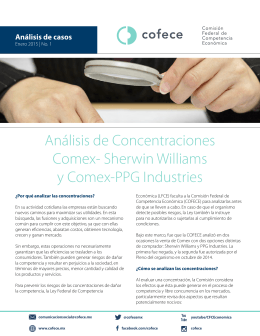 Análisis de Concentraciones Comex- Sherwin Williams y