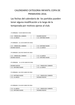 calendario - Puerto Real FS