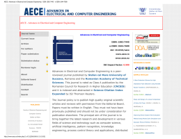 AECE | Advances in Electrical and Computer Engineering