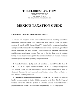 MEXICO TAXATION GUIDE