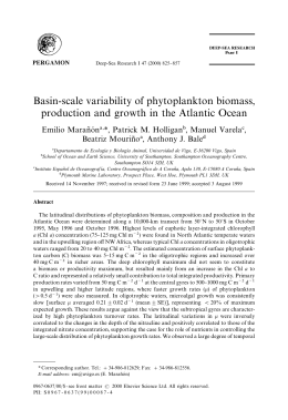 Basin-scale variability of phytoplankton biomass, production and
