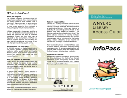 WNY Library Access Guide: InfoPass Program