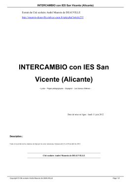 INTERCAMBIO con IES San Vicente (Alicante)