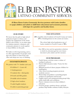Annual Report - Winston-Salem - El Buen Pastor Latino Community